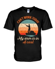 MY ARM IS IN A CAST - MB243 V-Neck T-Shirt thumbnail