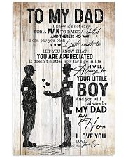 TO MY DAD - MILITARY Vertical Poster tile