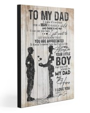 TO MY DAD - MILITARY 20x30 Gallery Wrapped Canvas Prints front