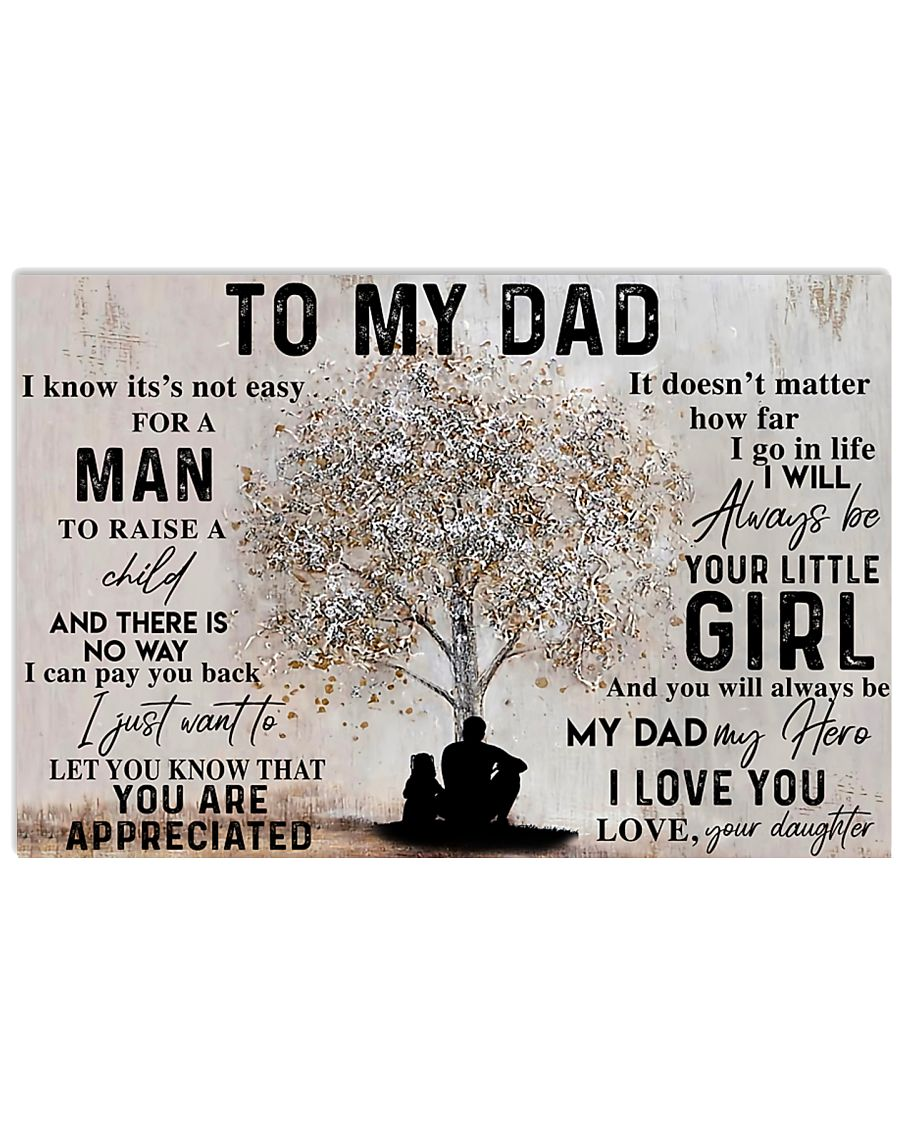 TO MY DAD - MB169 24x16 Poster