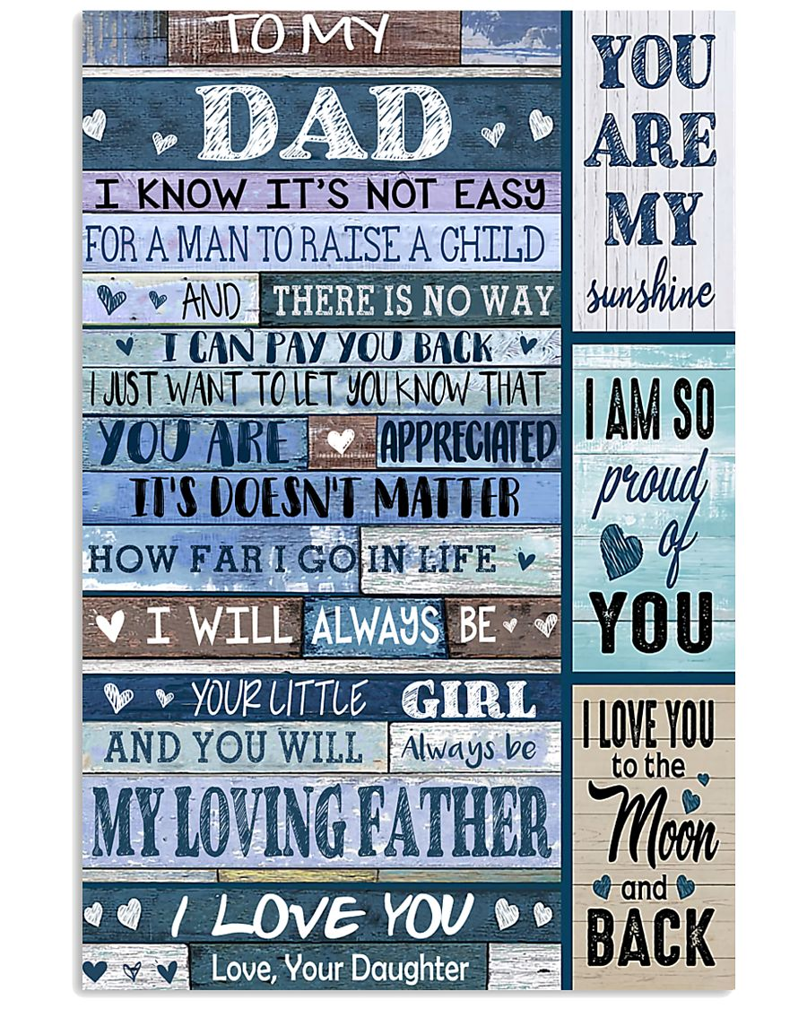 TO MY DAD - 178 11x17 Poster