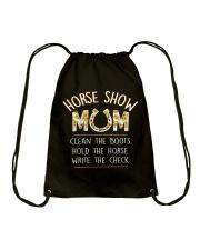 HORSE SHOW MOM  Drawstring Bag thumbnail