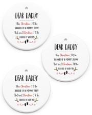 DEAR DADDY Circle ornament - 3 pieces (porcelain) front
