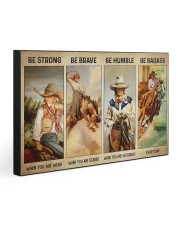 BE BADASS EVERYDAY 30x20 Gallery Wrapped Canvas Prints front