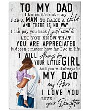 TO MY DAD - MB153 11x17 Poster front