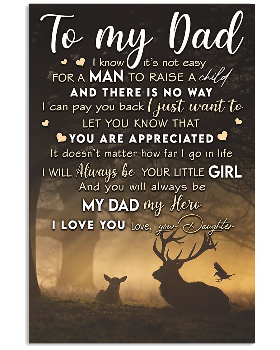 TO MY DAD - MB276 11x17 Poster