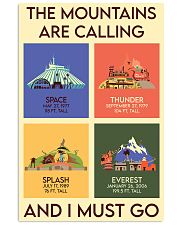 THE MOUNTAINS ARE CALLING AND I MUST GO  Vertical Poster tile