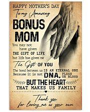 TO MY AMAZING BONUS MOM  Vertical Poster tile