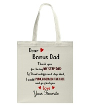 TO MY BONUS DAD - MB192 Tote Bag thumbnail