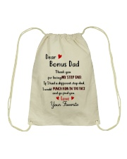 TO MY BONUS DAD - MB192 Drawstring Bag thumbnail