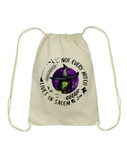 NOT EVERY WITCH LIVES IN SALEM Drawstring Bag thumbnail