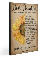 DEAR DAUGHTER  20x30 Gallery Wrapped Canvas Prints front