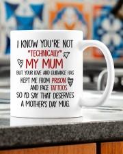 I KNOW YOU'RE NOT TECHNICALLY MY MUM Mug ceramic-mug-lifestyle-57