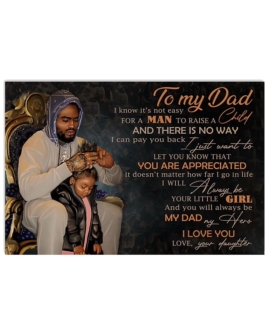 TO MY DAD - MB-216 24x16 Poster