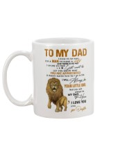 TO MY DAD  Mug back
