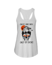 SALTY BY CHOICE  Ladies Flowy Tank front