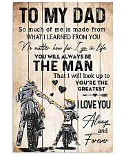 TO MY DAD - DIRTBIKE Vertical Poster tile