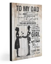 TO MY DAD - 67T11 20x30 Gallery Wrapped Canvas Prints front