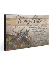 TO MY WIFE 30x20 Gallery Wrapped Canvas Prints front