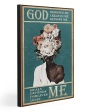 God Designed Me Created Me Blesses Me 20x30 Gallery Wrapped Canvas Prints front