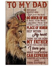 TO MY DAD - MB140 11x17 Poster front