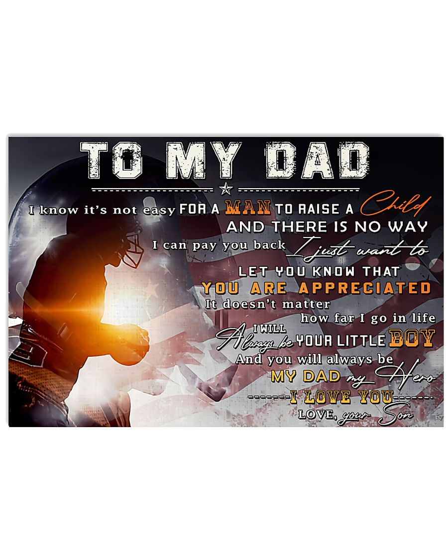 TO MY DAD - mb335 36x24 Poster