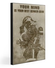 YOUR MIND IS YOUR BEST BUNKER GEAR  20x30 Gallery Wrapped Canvas Prints front