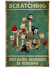 SCRATCHING BECAUSE MURDER IS WRONG  Vertical Poster tile
