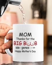 MOM THANKS FOR THE BIG BOOB GENES Mug ceramic-mug-lifestyle-65