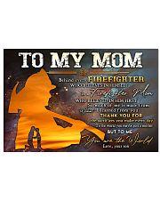 TO MY MOM  Horizontal Poster tile