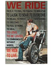 WE RIDE TO LIVE Vertical Poster tile