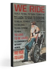 WE RIDE TO LIVE 20x30 Gallery Wrapped Canvas Prints front