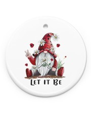 GARDEN GNOME LET IT BE Circle ornament - single (porcelain) front