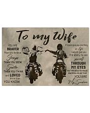 TO MY WIFE - BIKER  17x11 Poster thumbnail