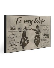 TO MY WIFE - BIKER  30x20 Gallery Wrapped Canvas Prints front
