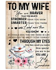 TO MY WIFE - 117T01 Vertical Poster tile