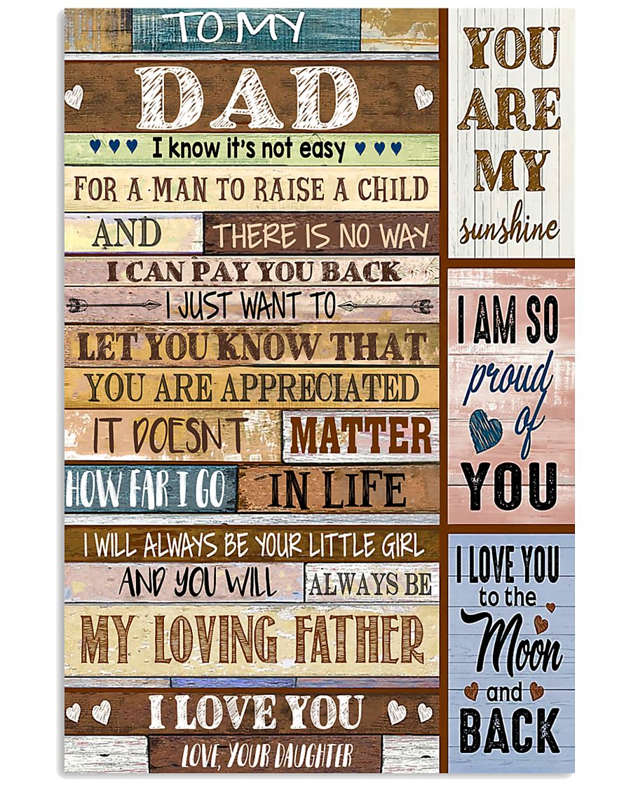 TO MY DAD - MB211 11x17 Poster
