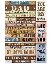 TO MY DAD - MB211 11x17 Poster front
