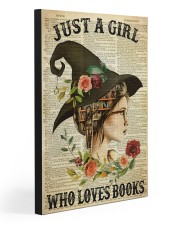 JUST A GIRL WHO LOVES BOOKS  20x30 Gallery Wrapped Canvas Prints front
