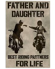 FATHER AND DAUGHTER RIDING PARTNERS FOR LIFE  Vertical Poster tile