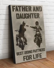 FATHER AND DAUGHTER RIDING PARTNERS FOR LIFE  20x30 Gallery Wrapped Canvas Prints aos-canvas-pgw-20x30-lifestyle-front-14
