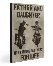 FATHER AND DAUGHTER RIDING PARTNERS FOR LIFE  20x30 Gallery Wrapped Canvas Prints front