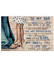TO MY DAD - MB106 24x16 Poster front