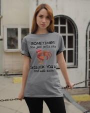 CLUCK YOU  Classic T-Shirt apparel-classic-tshirt-lifestyle-19