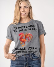 CLUCK YOU  Classic T-Shirt apparel-classic-tshirt-lifestyle-front-100