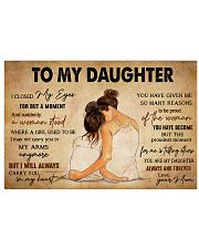 TO MY DAUGHTER 36x24 Poster front