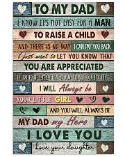 TO MY DAD - MB250 11x17 Poster front