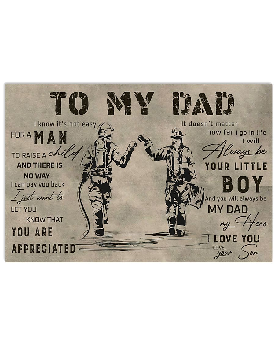 TO MY DAD - MB308 36x24 Poster