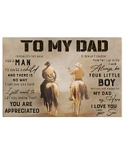 TO MY DAD 17x11 Poster thumbnail