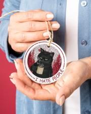 I HATE PEOPLE Circle ornament - single (porcelain) aos-circle-ornament-single-porcelain-lifestyles-01